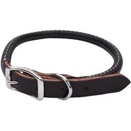 Circle T Latigo Leather Round Dog Collar, 13.75 - 16 in