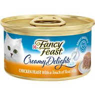 Fancy Feast Creamy Delights Chicken Feast Canned Cat Food, 3-oz, case of 24