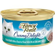 Fancy Feast Creamy Delights Tuna Feast in a Creamy Sauce Canned Cat Food, 3-oz, case of 24