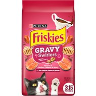 Friskies Gravy Swirlers Chicken and Salmon Flavor Cat Food, 3.15-lb bag