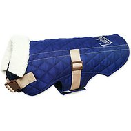 Touchdog Sherpa Designer Dog Coat, Medium, Royal Blue