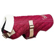 Touchdog Sherpa Designer Dog Coat, Dark Pink, Medium