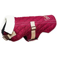 Touchdog Sherpa Designer Dog Coat, Dark Pink, Large