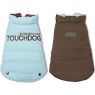 Touchdog Waggin Swag Reversible Dog Coat, X-Small, Blue/Brown