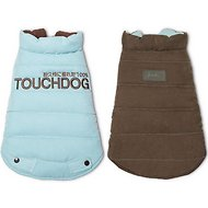 Touchdog Waggin Swag Reversible Dog Coat, Blue/Brown, Large