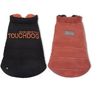 Touchdog Waggin Swag Reversible Dog Coat, Brown/Orange, Medium