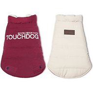 Touchdog Waggin Swag Reversible Dog Coat, Pink/White, X-Small