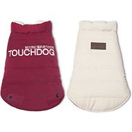 Touchdog Waggin Swag Reversible Dog Coat, Pink/White, Small