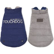 Touchdog Waggin Swag Reversible Dog Coat, Large, Blue/Gray