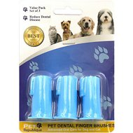 Pet Republique Dog & Cat Finger Toothbrush, 3 count