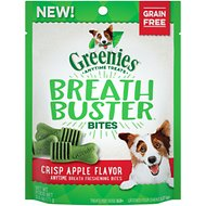 Greenies Breath Buster Bites Crisp Apple Flavor Grain-Free Dental Dog Treats, 2.5-oz bag
