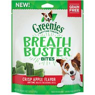 Greenies Breath Buster Bites Crisp Apple Flavor Grain-Free Dental Dog Treats, 5.5-oz bag