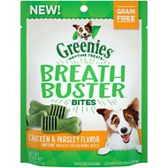 Greenies Breath Buster Bites Chicken & Parsley Flavor Grain-Free Dental Dog Treats, 2.5-oz bag