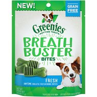 Greenies Breath Buster Bites Fresh Flavor Grain-Free Dental Dog Treats, 2.5-oz bag
