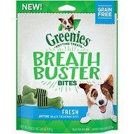 Greenies Breath Buster Bites Fresh Flavor Grain-Free Dental Dog Treats, 5.5-oz bag