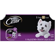 Cesar Classics Filet Mignon Flavor in Meaty Juices Dog Food Trays, 3.5-oz, pack of 12