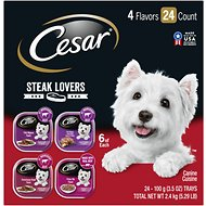 Cesar Steak Lovers Variety Pack Dog Food Trays, 3.5-oz, case of 24
