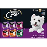 Cesar Classics in Meaty Juices Variety Pack Dog Food Trays, 3.5-oz, case of 36