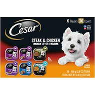 Cesar Steak & Poultry Lover's Variety Pack Dog Food Trays, 3.5-oz, case of 36