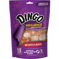 Dingo Indulgence Mini Bones Peanut Butter Flavor Dog Treats