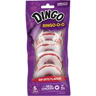 Dingo Ringo Rawhide & Meat Chew Dog Treats, 5 count