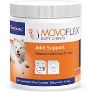 Virbac MOVOFLEX Joint Support Soft Chew Dog Supplement, Up to 40 lbs, 60 count