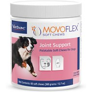 Virbac MOVOFLEX Joint Support Soft Chew Dog Supplement, Over 80 lbs, 60 count