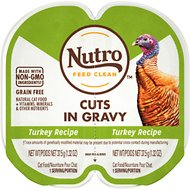 Nutro Perfect Portions Grain-Free Cuts in Gravy Turkey Recipe Cat Food Trays, 2.65-oz, case of 24 twin-packs