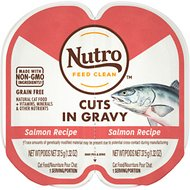 Nutro Perfect Portions Grain-Free Cuts in Gravy Real Salmon Recipe Cat Food Trays, 2.65-oz, case of 24 twin-packs