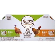 Nutro Perfect Portions Grain-Free Cuts in Gravy Multi-Pack Real Turkey & Real Chicken Recipe Cat Food Trays, 2.65-oz, case of 12 twin-packs