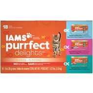 Iams Purrfect Delights Flaked in Sauce Variety Pack Canned Cat Food, 3-oz, case of 18