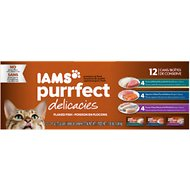 Iams Purrfect Delicacies Flaked Fish Variety Pack Canned Cat Food, 2.47-oz, case of 12