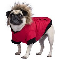 Canada Pooch North Pole Premium Dog Parka, Red, 14