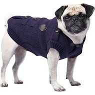 Canada Pooch Cargo Premium Dog Cardigan, Dark Purple, 10
