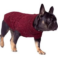 Canada Pooch Cambridge Cableknit Dog Sweater, Maroon, 10