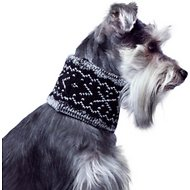 Canada Pooch Cowl Dog Scarf, Small, Black Pepper