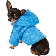 Zack & Zoey Elements Quilted Hearts Dog Jacket, XX-Small, Blue