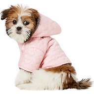 Zack & Zoey Elements Quilted Hearts Dog Jacket, Pink, XX-Small