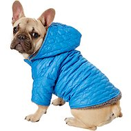 Zack & Zoey Elements Quilted Hearts Dog Jacket, Blue, Medium