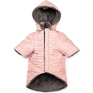 Zack & Zoey Elements Quilted Hearts Dog Jacket, Medium, Pink