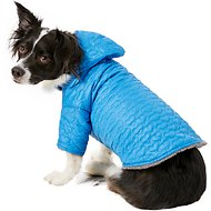 Zack & Zoey Elements Quilted Hearts Dog Jacket, Blue, Large