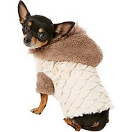 Zack & Zoey Elements Mixed Faux Fur Dog Jacket, Almond, XX-Small
