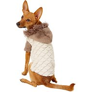 Zack & Zoey Elements Mixed Faux Fur Dog Jacket, Almond, Small
