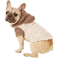 Zack & Zoey Elements Mixed Faux Fur Dog Jacket, Almond, Medium