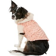 Zack & Zoey Elements Mixed Faux Fur Dog Jacket, Large, Pink