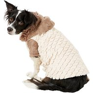 Zack & Zoey Elements Mixed Faux Fur Dog Jacket, Almond, X-Large