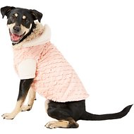 Zack & Zoey Elements Mixed Faux Fur Dog Jacket, X-Large, Pink