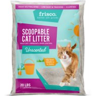 Frisco Multi-Cat Unscented Clumping Clay Cat Litter, 20-lb bag