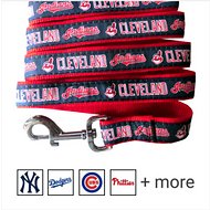 Pets First MLB Dog Leash, Cleveland Indians, Small