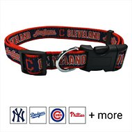 Pets First MLB Dog Collar, Cleveland Indians, Large